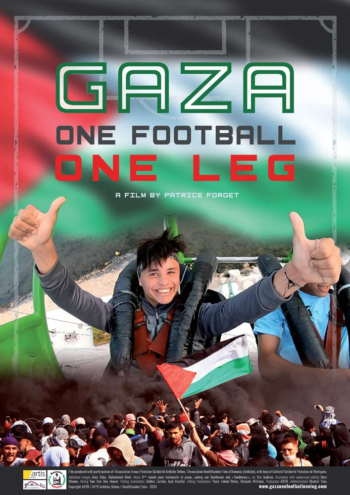 Gaza One Football One Leg Poster